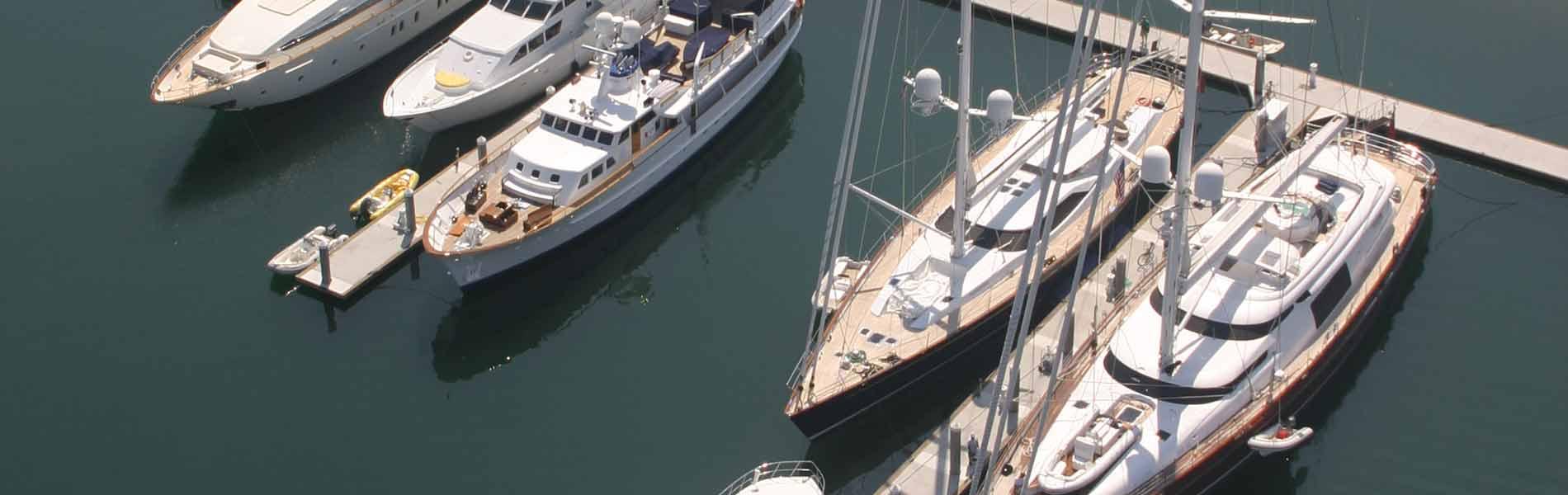 Yachts at Kona Kai Marina San Diego