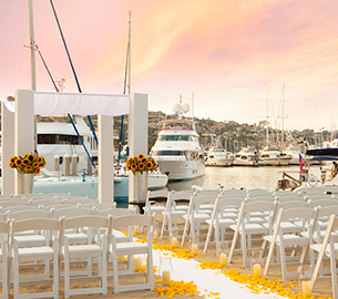 Waterfront wedding at Kona Kai Resort San Diego